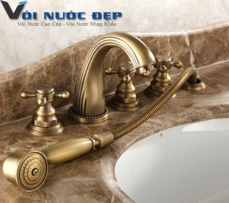 Vòi Đồng Xả Bồn Tắm 5 Lỗ – VND 27