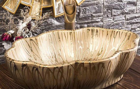Lavabo sứ vỏ ốc tại Hà Nội – LS 76