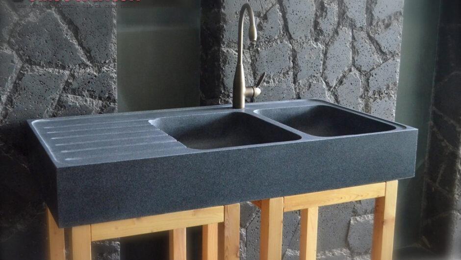 Chậu 2 bồn BESSO đá granite – CBR 02