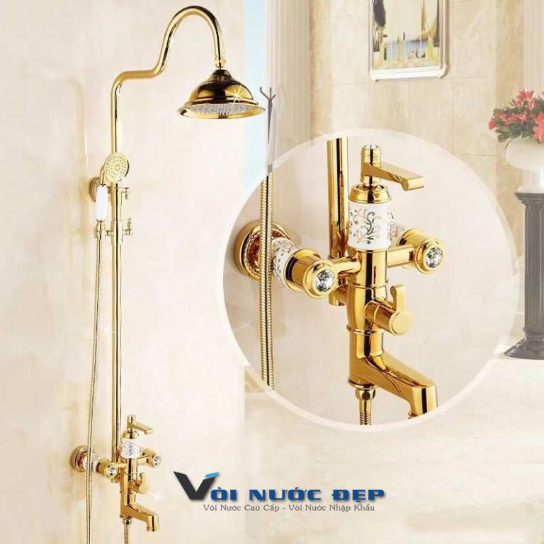 Vòi Sen Tắm Inox Mạ Vàng Nạm Xứ – VST 21